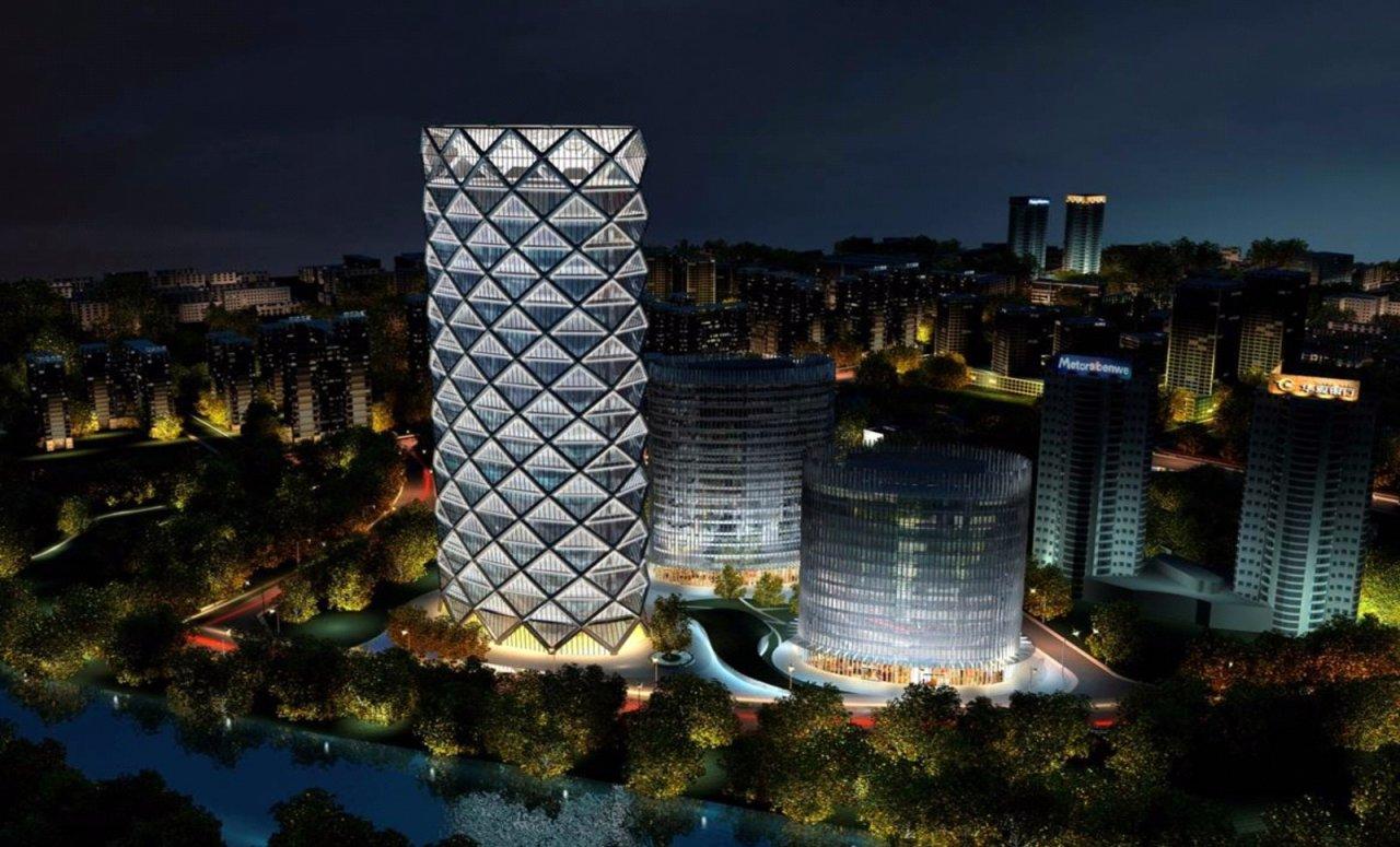 望京地标性建筑_北京望京保利国际广场_乐雷光电